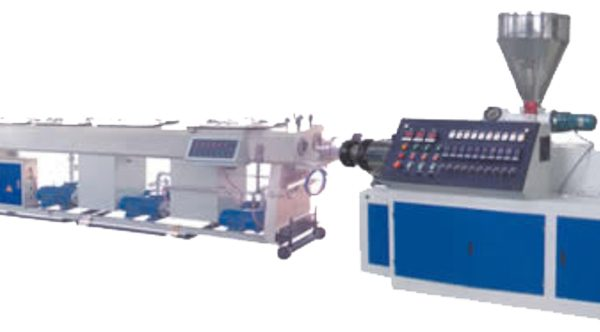Conical Twin Screw Plastic Pipe Extrusion Line